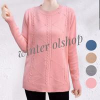 Baju Rajut Import / Atasan Knit Wanita / Rajut Premium - Biru