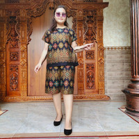 (NEW) Size XXL Babydoll Set Piyama Bali motif songket