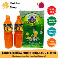 Sirup Markisa Asli Brastagi Medan 1000 ml Halal Sari Markisa Murni - BOX LEBARAN