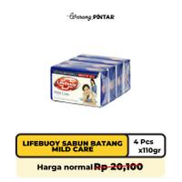 Lifebuoy Sabun Batang Mild Care 110gr Per Pak (4 Batang)