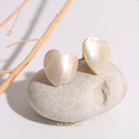 Nina earrings | Anting mother of pearl asli, Mutiara, Anting studs