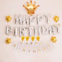 Paket Set Dekorasi Balon Ulang Tahun Mahkota