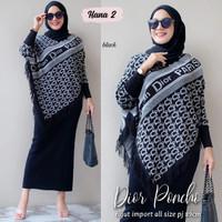 Baju Atasan Wanita Muslim Outer Dor Ponco