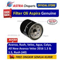 Filter Oli/ Oil Filter Aspira AVANZA, RUSH, VELOZ, AGYA, CALYA, dll