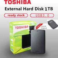 TOSHIBA Canvio Hardisk 1TB Eksternal 2.5 USB 3.0 HDD External - Hitam no Bag