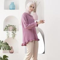 Wulfi Atasan Kemeja Sweet Shirt Lilac