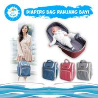 Tas Perlengkapan Bayi Diaper Bag Ransel Multifungsi KIDDIE SPLASH