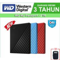 WD My Passport 2TB - HD HDD Hardisk Eksternal External 2.5 USB 3.0 - Merah no Bag