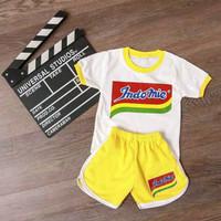 Baju Setelan Anak Laki Laki Perempuan Usia 1-6 Tahun Gambar INDOMIE du