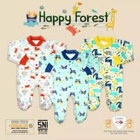 Libby Baby Jumper panjang tutup kaki newborn happy forest
