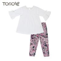 TORIO Legging Set Pink With Flower - Baju Setelan Anak Perempuan