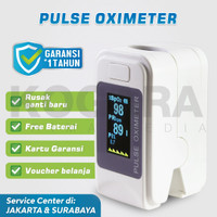 Oximeter Oxymeter Fingertip Pulse - Ukur heartrate kadar oksigen darah