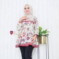 BATIK PARISYA - Vania B00031 Atasan Batik Wanita Blouse Batik Wanit