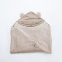 hooded blanket (selimut topi bayi) - Bear