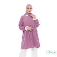 Atasan Muslim Wanita | Manda Tunik Lilac | S M L XL | Tazkia Hijab