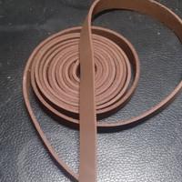 Tali Suede Kulit Asli / tali Beludru Bahan Gelang Kalung Lebar 0.5 cm