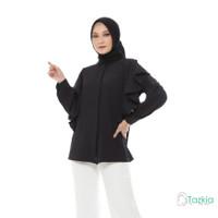 Atasan Muslim Wanita | Calista Blouse Hitam | S M L XL | Tazkia Hijab