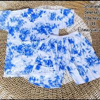 Setelan anak kaos celana tie dye lembut adem baju bali