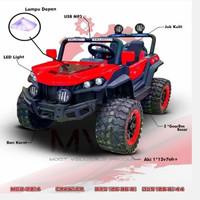Mainan Anak Mobil Aki Jeep MOB 2014 - Crawler Jeep Ban Karet