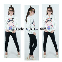 [Model: JCT-405] Baju Tangan Panjang FullPrint Anak dan Remaja Import - XS