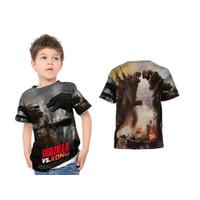 Kaos Anak Baju Anak Godzilla Vs Kingkong Custom Keren