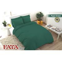 Full Set Bedcover Polos Emboss Fata King 180 Warna Paper Green Hijau