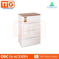 OLYMPLAST LEMARI PLASTIK DRAWER KABINET LACI 4 SUSUN ODC - 04 MODERN - WHITE