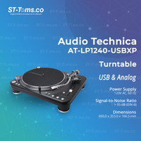 Audio Technica AT LP1240 USBXP Direct-Drive Professional Turntable USB