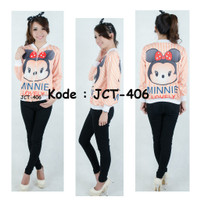 [Model: JCT-406] Baju Tangan Panjang FullPrint Anak dan Remaja Import - XS