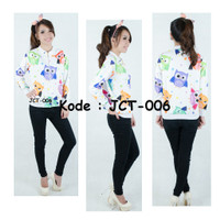 [Model: JCT-006] Baju Tangan Panjang FullPrint Anak dan Remaja Import - XS