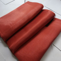 hijab segi empat bahan organza khusus warna merah bata