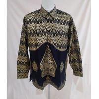 Baju Batik Songket Palembang Motif Wayang Hitam ( Bisa Couple )
