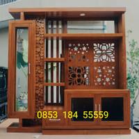 Sketsel Penyekat Ruangan Jati Bufet Tv Cabinet Laci Lemari Buffet Ukir