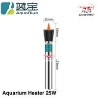 Heater Aquarium Stainless 25W 50W 100W Pemanas Akuarium
