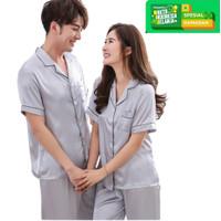 JCFashion CP Couple Piyama Satin Big Size Ukuran Besar - Jumbo