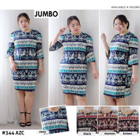 Dress Batik Jumbo 344 Vol35 Baju Kantor Resmi