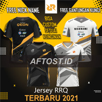 Jersey baju rrq terbaru 2021 free nick name full printing grade ori