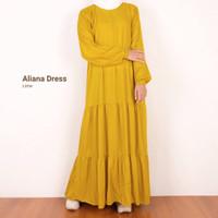 Aliana Dress | ready warna Biru dongker, kuning,hitam,army