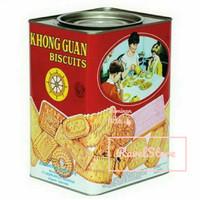 KHONG GUAN ASSORTED BISKUIT KALENG MERAH 1600 gram - TERMURAH