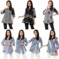 Baju Batik Blouse Kombinasi Motif /Blouse Atasan Wanita motif