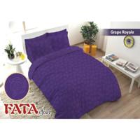 Full Set Bedcover Polos Emboss Fata King 180 Warna Grape Royale Ungu