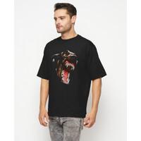 Noun Oversize T-Shirts Warning Dog - M