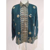 Baju Batik Songket Palembang Motif Cantik Manis Hijau ( Bisa Couple )