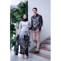[WIDBATIK] Kebaya Dan Batik Couple Annisa Grey-Baju Kondangan