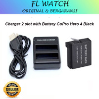 Charger 2 slot with Battery GoPro Hero 4 Black Silver