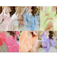 piyama baju tidur dewasa wanita kimono 2in1 cantik sexy sleepwear