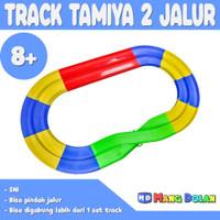 Track Tamiya 2 Jalur - Jalanan Mobil Balap Trek 4wd