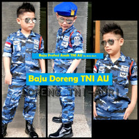 Baju Anak Tentara TNI AU Fullset, Baju Profesi Anak, Seragam Anak