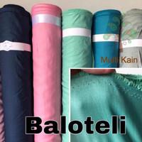 Bahan kain baloteli balotelli balotely balotelly high twist poliester - 1901 hitam