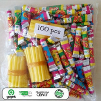 balon tiup jadul sedotan 100 pcs murah no box